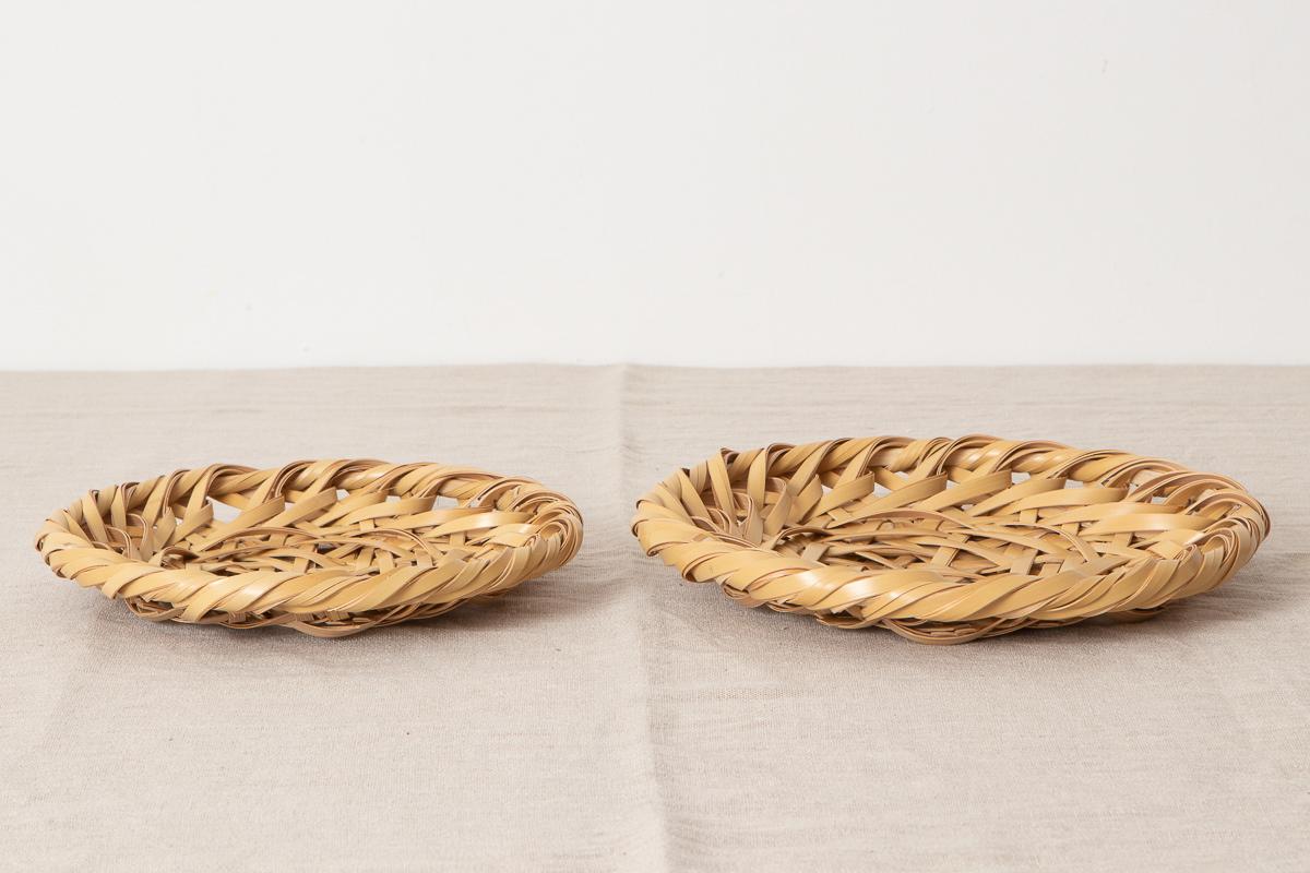 栃木県/真竹(白竹) 荒組み 竹皿 小・大 2サイズ