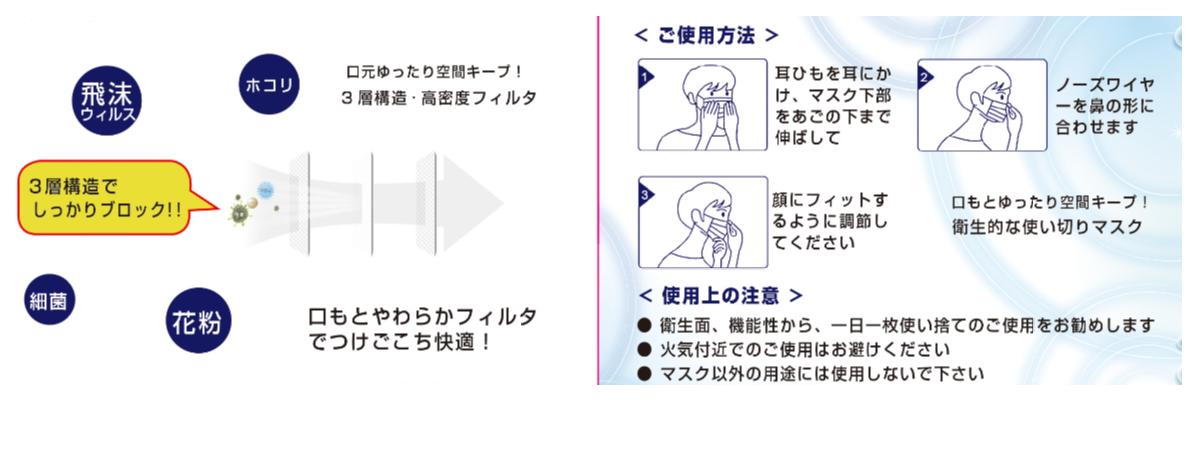 【50枚入×10箱】3層構造不織布マスク(1枚あたり33円)※平日12時までの決済完了で即日出荷