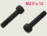 【EM25X12】 M2.5X12mm ソケットスクリュー 2本セット