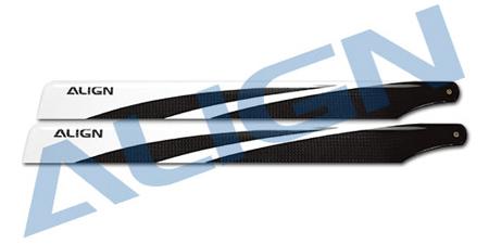 【HD360A】 360A 3G カーボンファイバーブレード(450L6S)【黒】