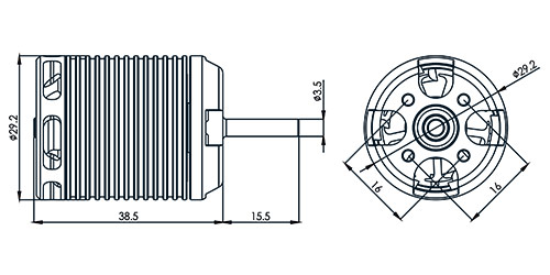 【HML46M01】 460MX ブラシレスモーター(1800KV)