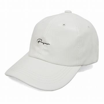 帽子 キャップ メンズ レディース ベースボールキャップ フェイクレザー ロゴ 刺繍 春 秋 冬 (送料無料)