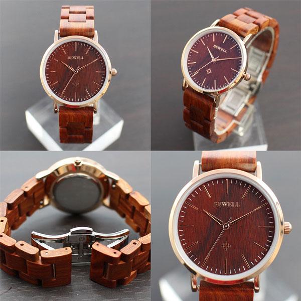 木 製 腕 時 計 天 然 素 材   木製腕時計  軽い 軽量  WDW028-02  レディース腕時計 (送料無料)
