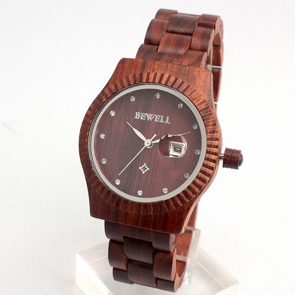 天 然 素 材   木 製 腕 時 計   日付カレンダー 37mmケース WDW016-02 レディース腕時計 (送料無料)