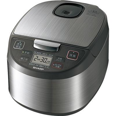 シャープ ジャー炊飯器(5.5合炊き) シルバー系(送料無料)