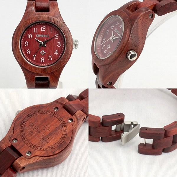天 然 素 材   木 製 腕 時 計   軽い 軽量 26mmケース WDW022-02 レディース腕時計  (送料無料)