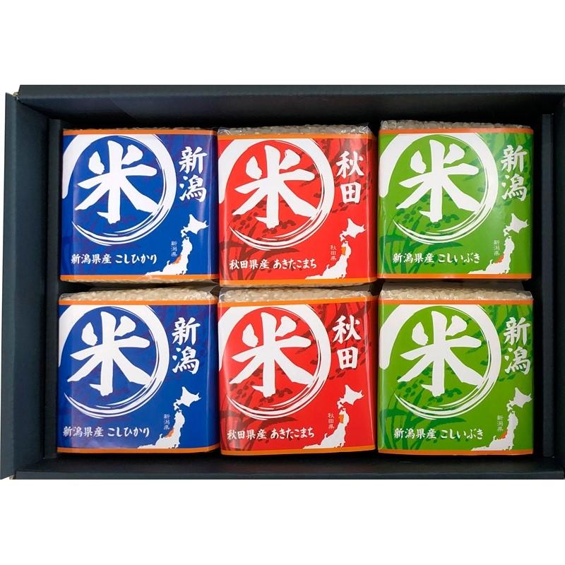 初 代  田 蔵 特 別 厳 選  「本格食べくらべお米ギフトセット」 (6個入 )(送料無料)