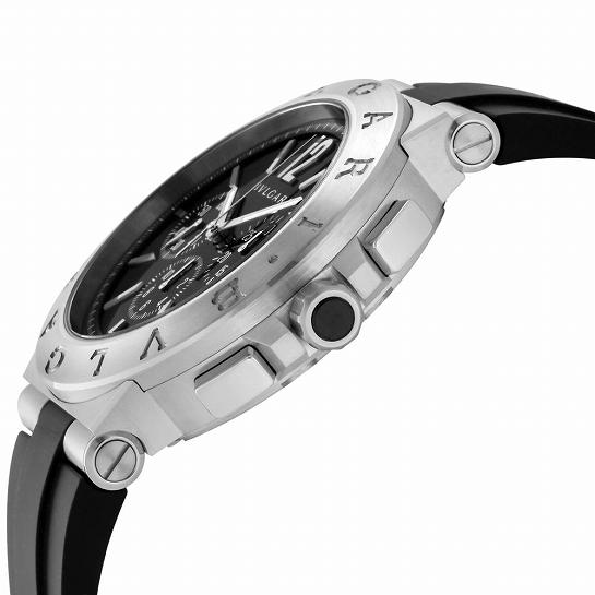 BVLGARI ブルガリ ディアゴノ DG41BSVDCH-SET -BLK メンズ腕時計 (送料無料)