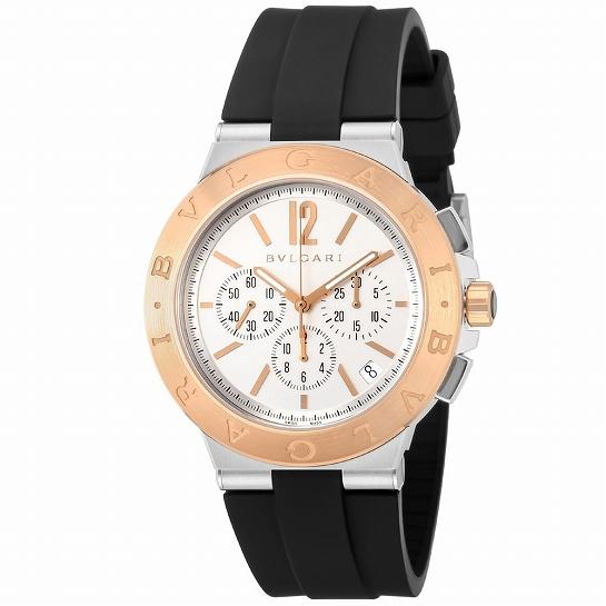 BVLGARI ブルガリ ディアゴノ DG41WSPGVDCH-SET-BRW メンズ腕時計 (送料無料)