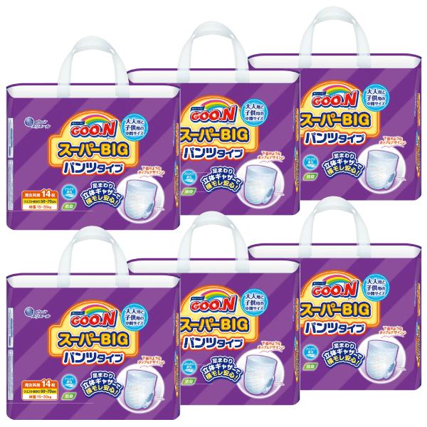 グーンスーパーBIGパンツ 14枚×6パック【753859】【ケース販売】