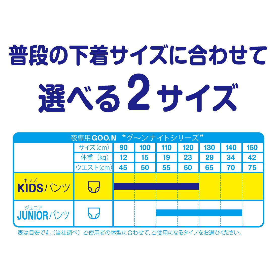 グーン ナイトキッズパンツ22枚×6パック【853987】【ケース販売】