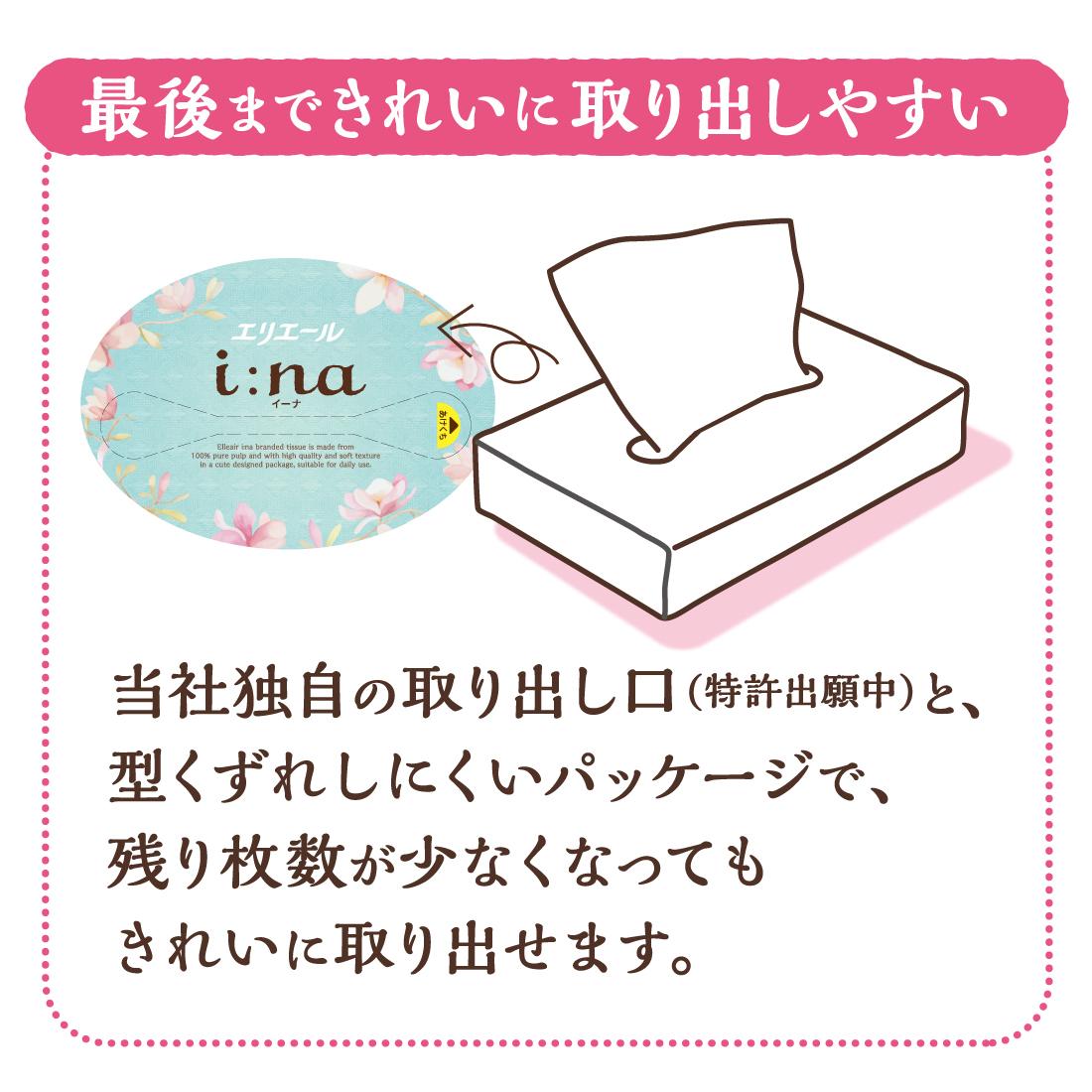 エリエール i:na(イーナ)ソフトパックティシュー150組5パック【823326】