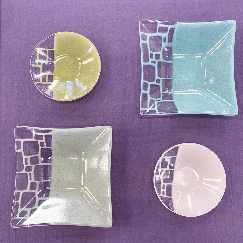 サブロウ 角深鉢(中b) ガラス器