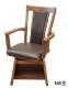 椅子 ハイバックアームチェアSG/NW【ダイニングこたつ用】