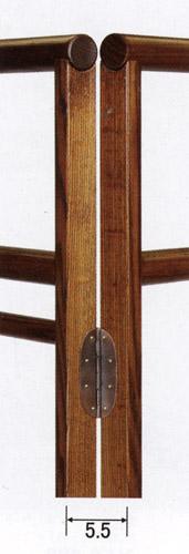 衣桁 竹雀スカシ両面幕板ケヤキ/オール色