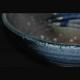 洗面ボウル(手洗鉢) 青ビードロ砂付き31