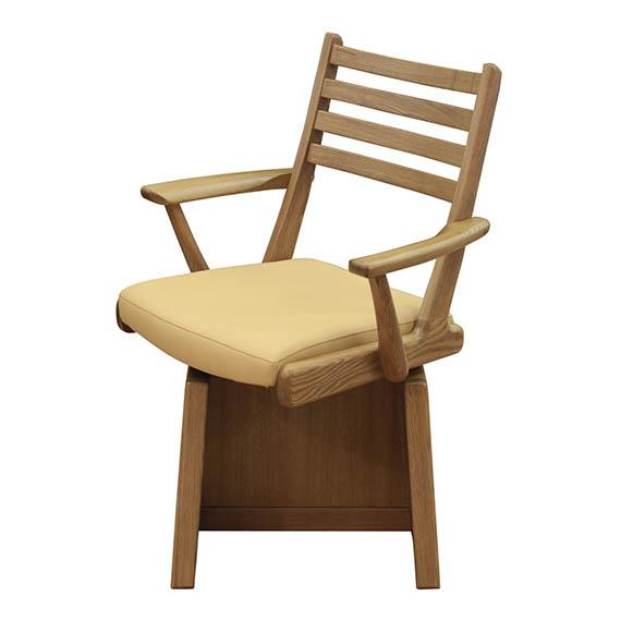 椅子 アーム回転チェア【ダイニングこたつ用】