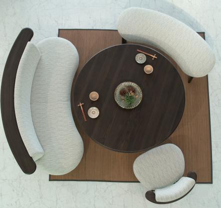 円型ダイニングテーブル 杉90/110/125