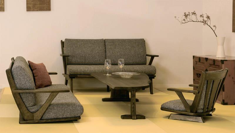 座椅子 栗材ONK/OBK/OGK【回転式】