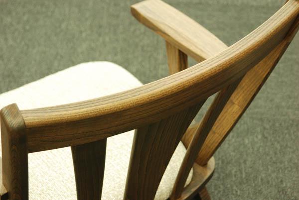 座椅子 栗材ONK/OBK/OGK【肘付き回転式】