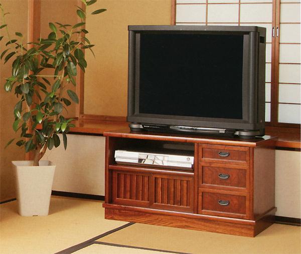 テレビ台 80ケヤキ色 【和室にぴったり】