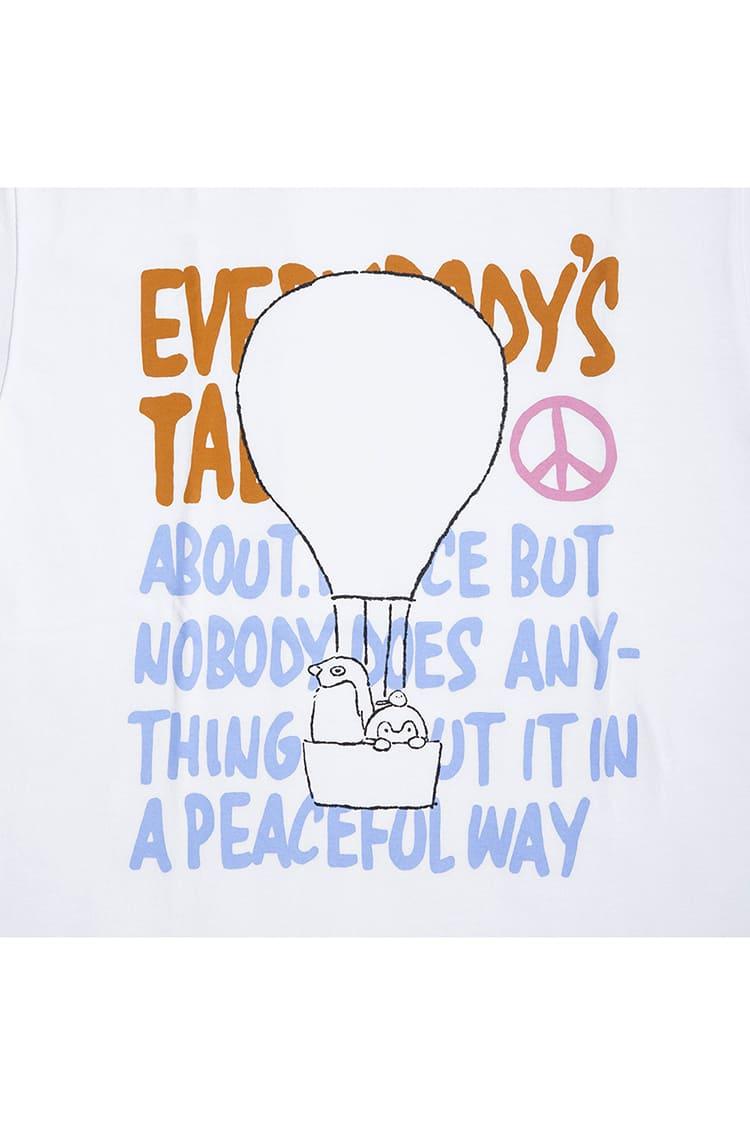 コウペンちゃん Tシャツ 気球 ホワイト
