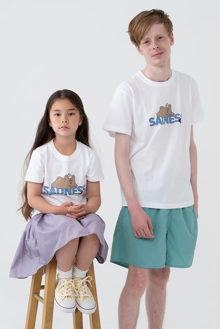 悲熊  Tシャツ SADNESS ホワイト