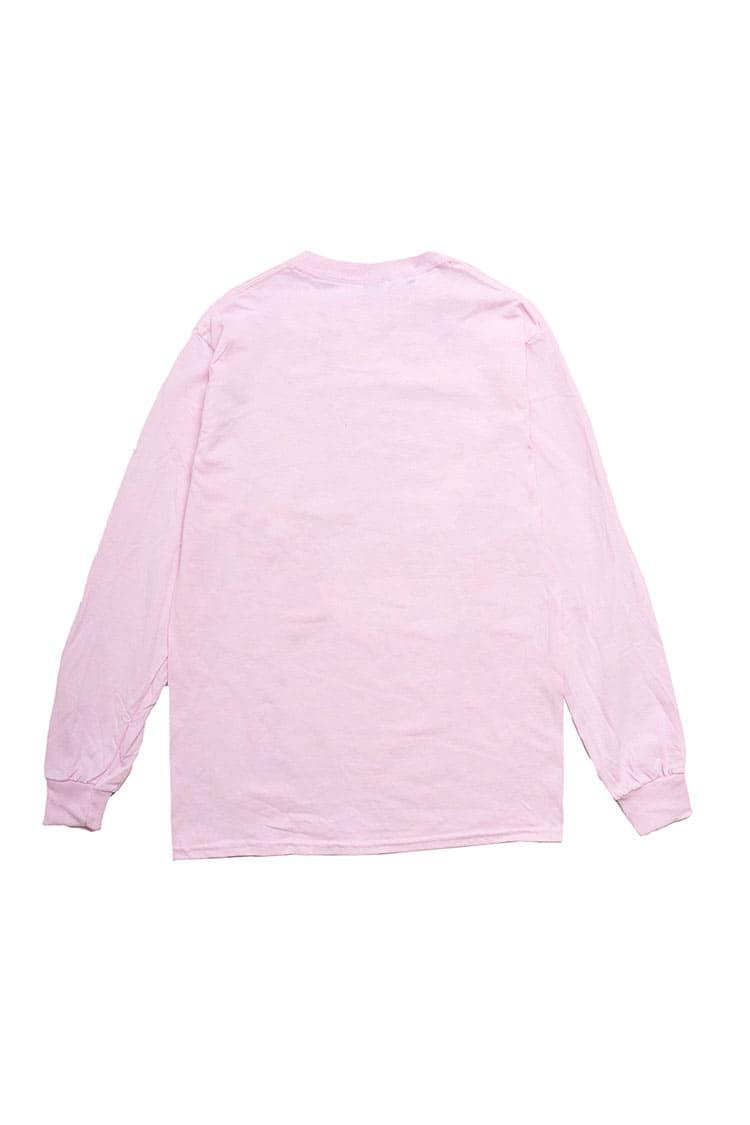 スキネズミ 爆睡 L/S Tシャツ ライトピンク