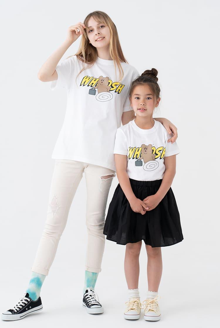 悲熊  Tシャツ WHOOSH ホワイト kids