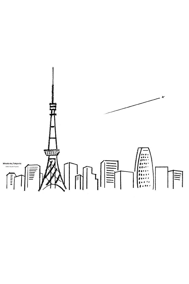 風景 Tee【東京都港区】杢グレー