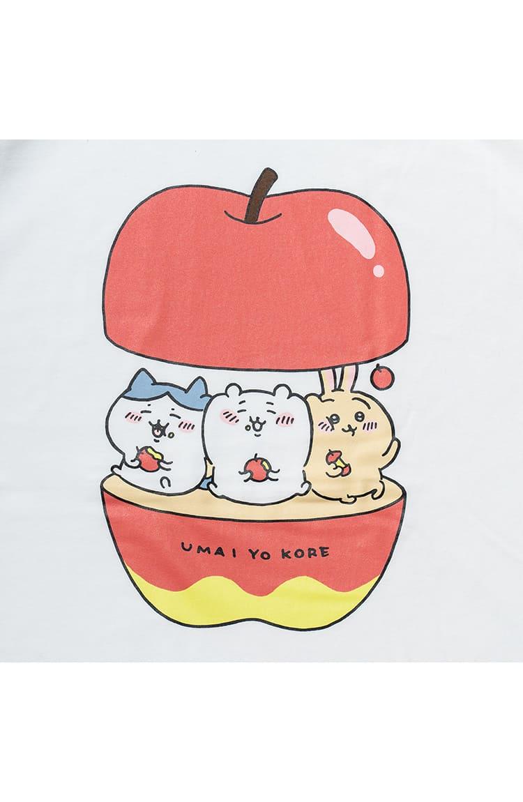 ちいかわ ビックTシャツ アップル ホワイト