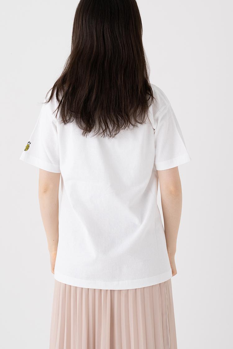 イイ発音Tee【パイナポー 】ホワイト