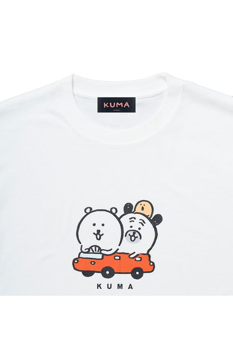 KUMA Tシャツ ドライブ ホワイト