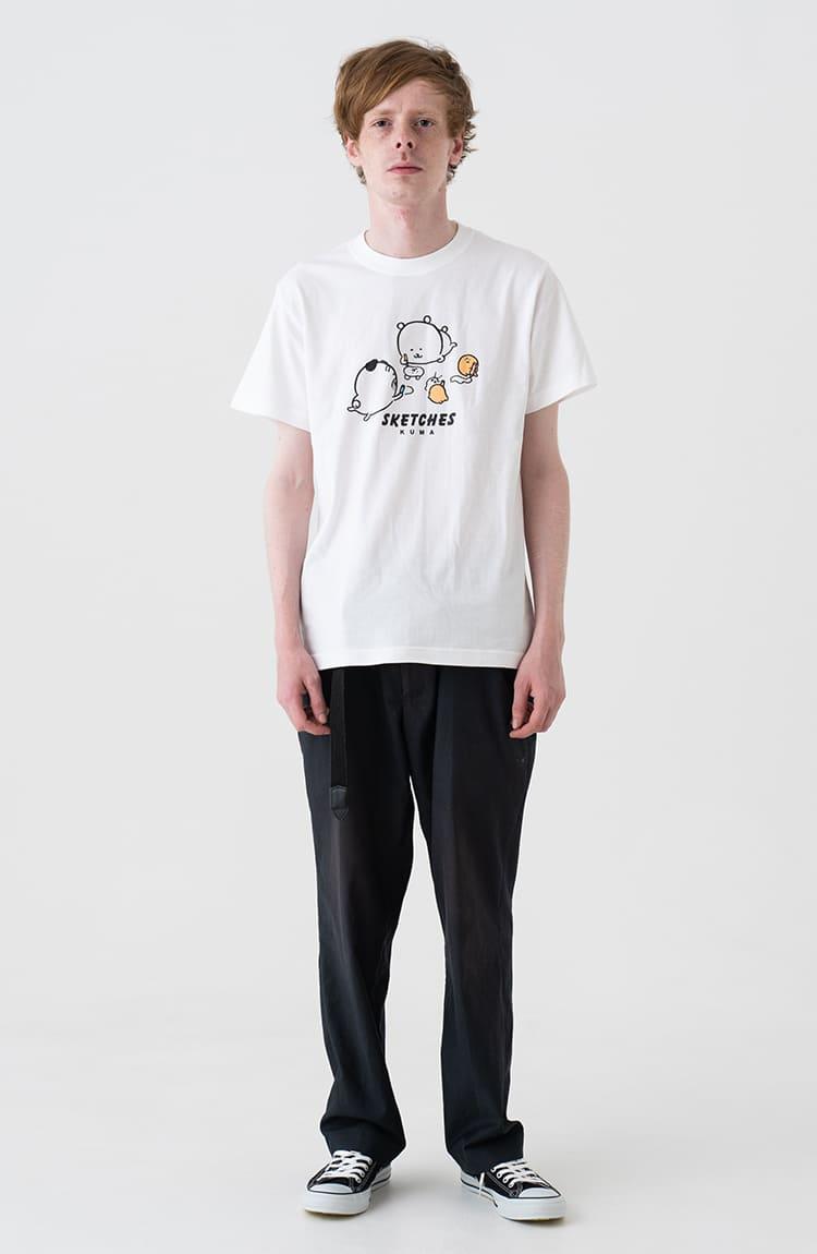 KUMA Tシャツ スケッチ ホワイト