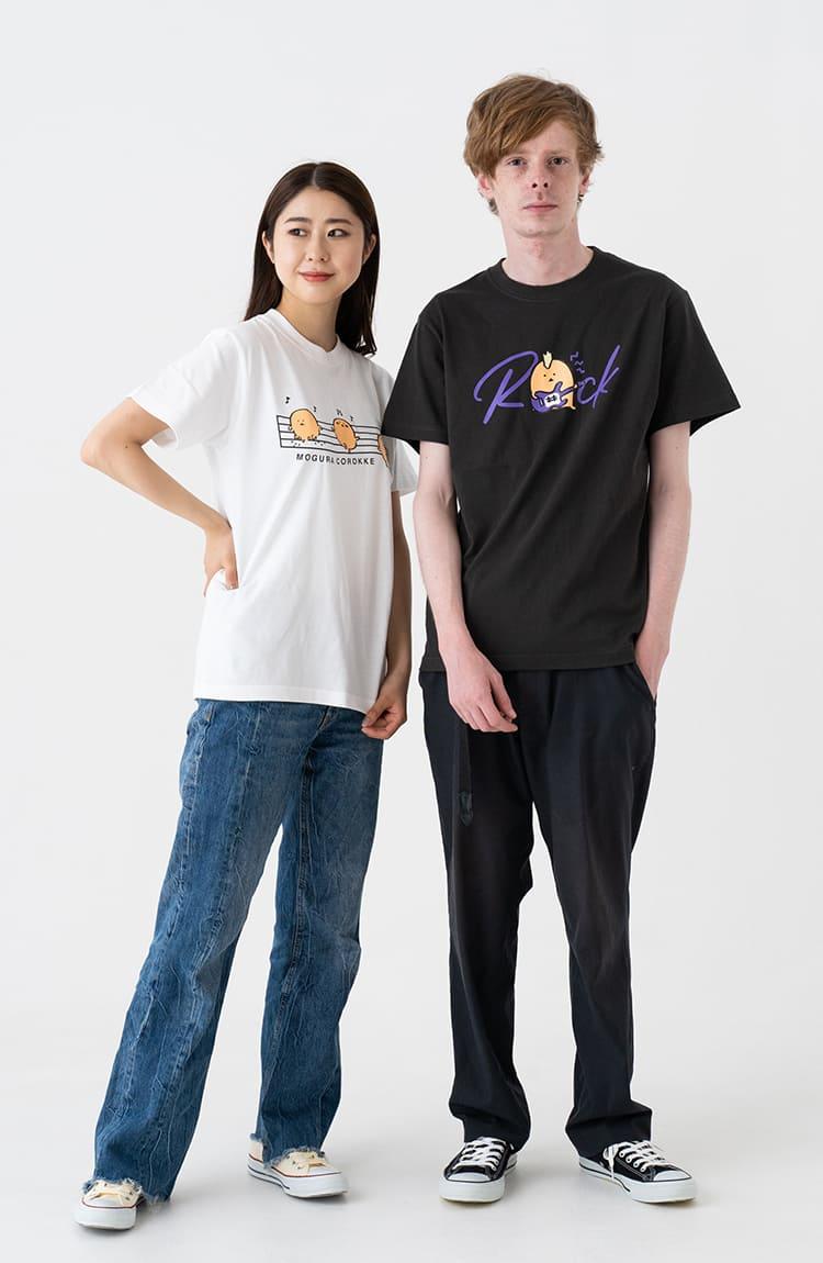 もぐコロ Tシャツ ROCK スミ