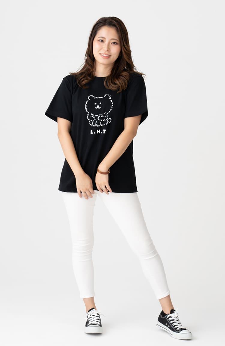 KUMA Tシャツ Long Hair Type! ブラック