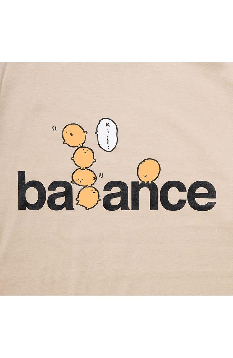 もぐコロ L/S Tシャツ バランス サンド