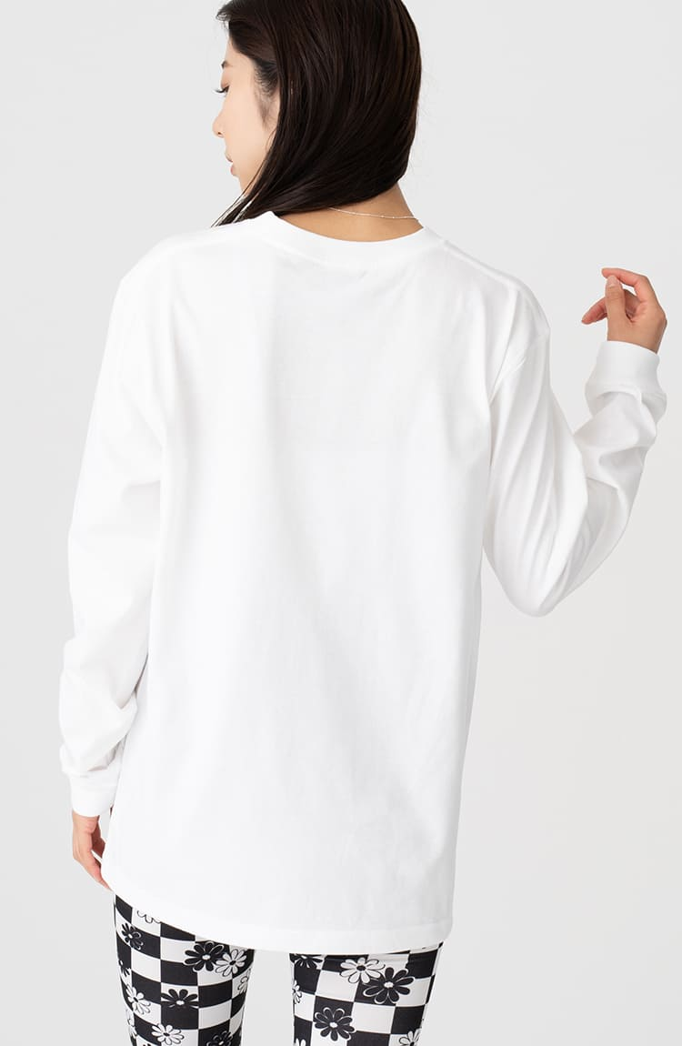 もぐコロ L/S Tシャツ 青い鳥 ホワイト
