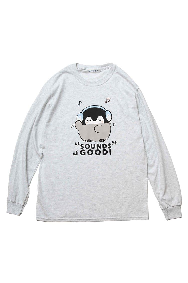 コウペンちゃん L/S Tシャツ サウンズ アッシュ