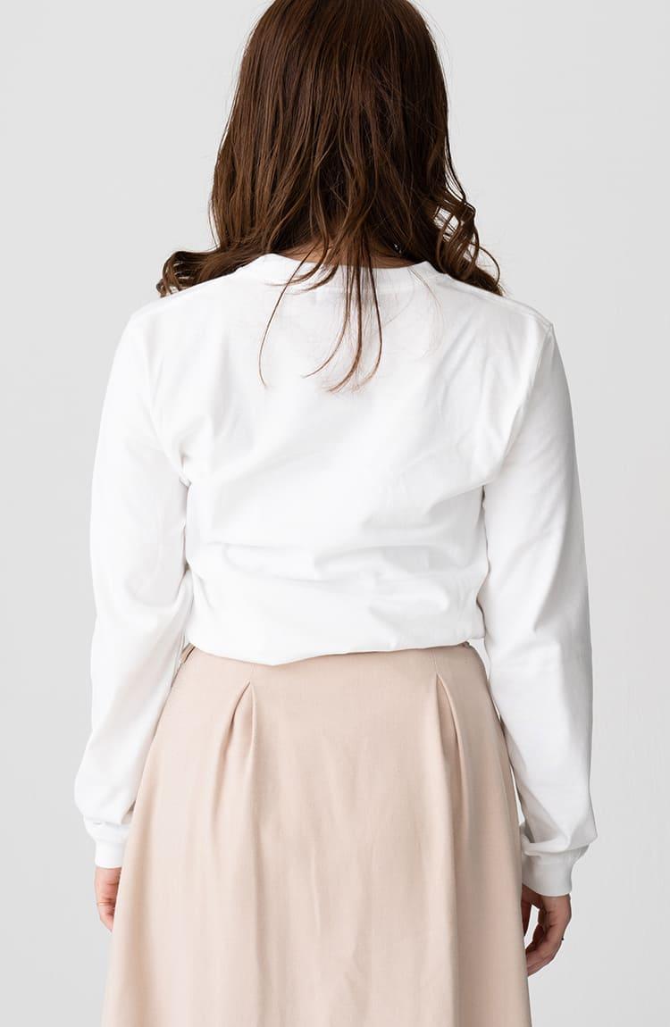 スキウサギ L/S Tシャツ サウンド ホワイト
