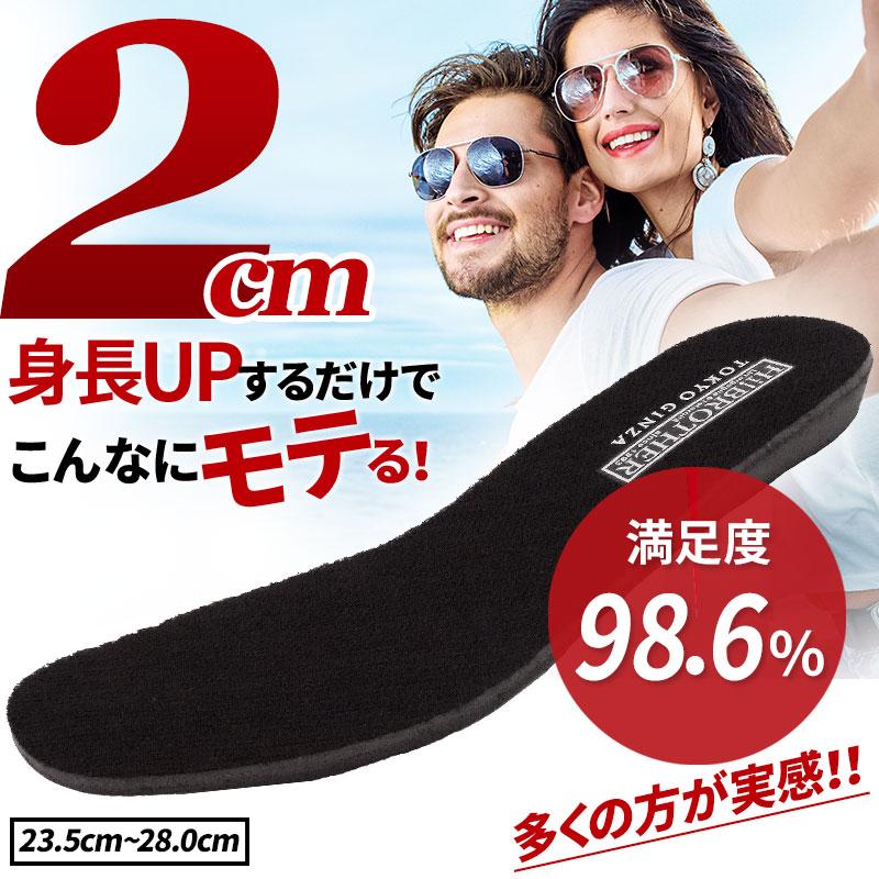 シークレットインソール 低反発 2cmUP【INSOLET2cm-SIZE】