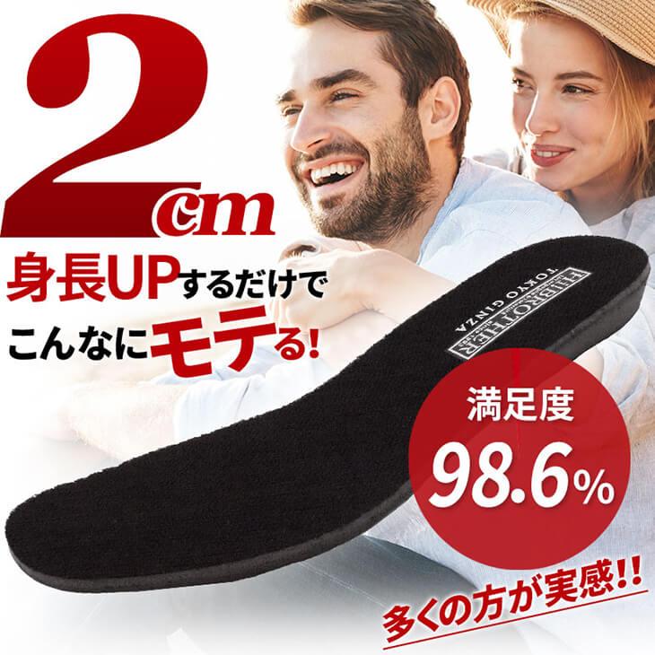 2cmUP 低反発 インソール 中敷き フリーサイズ【incolet2cm】