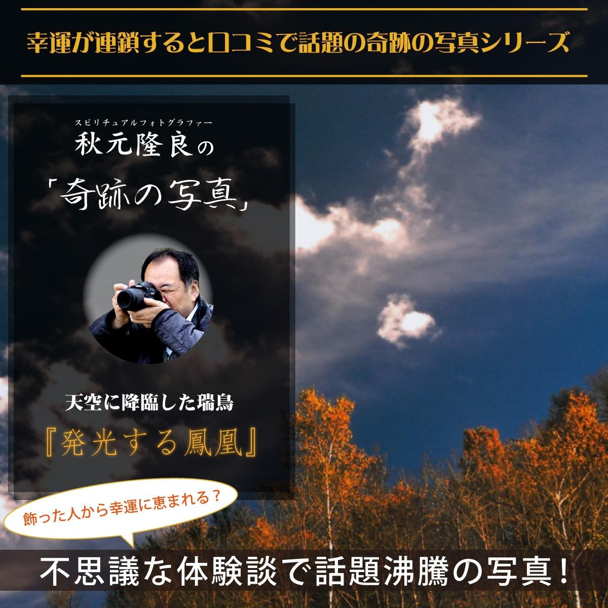 【奇跡の写真】発光する鳳凰 ≫飾るだけで幸運が連鎖すると話題!秋元隆良の開運フォト作品