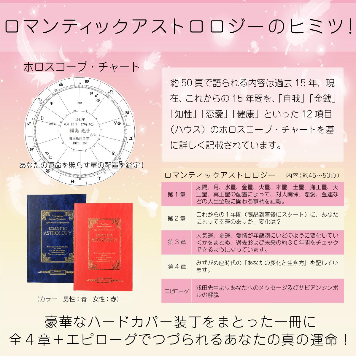 ≪あなたの運命がわかる専用の占い本!≫ 浅田かんなのロマンティック アストロロジー ≫あなたの30年が丸わかり!