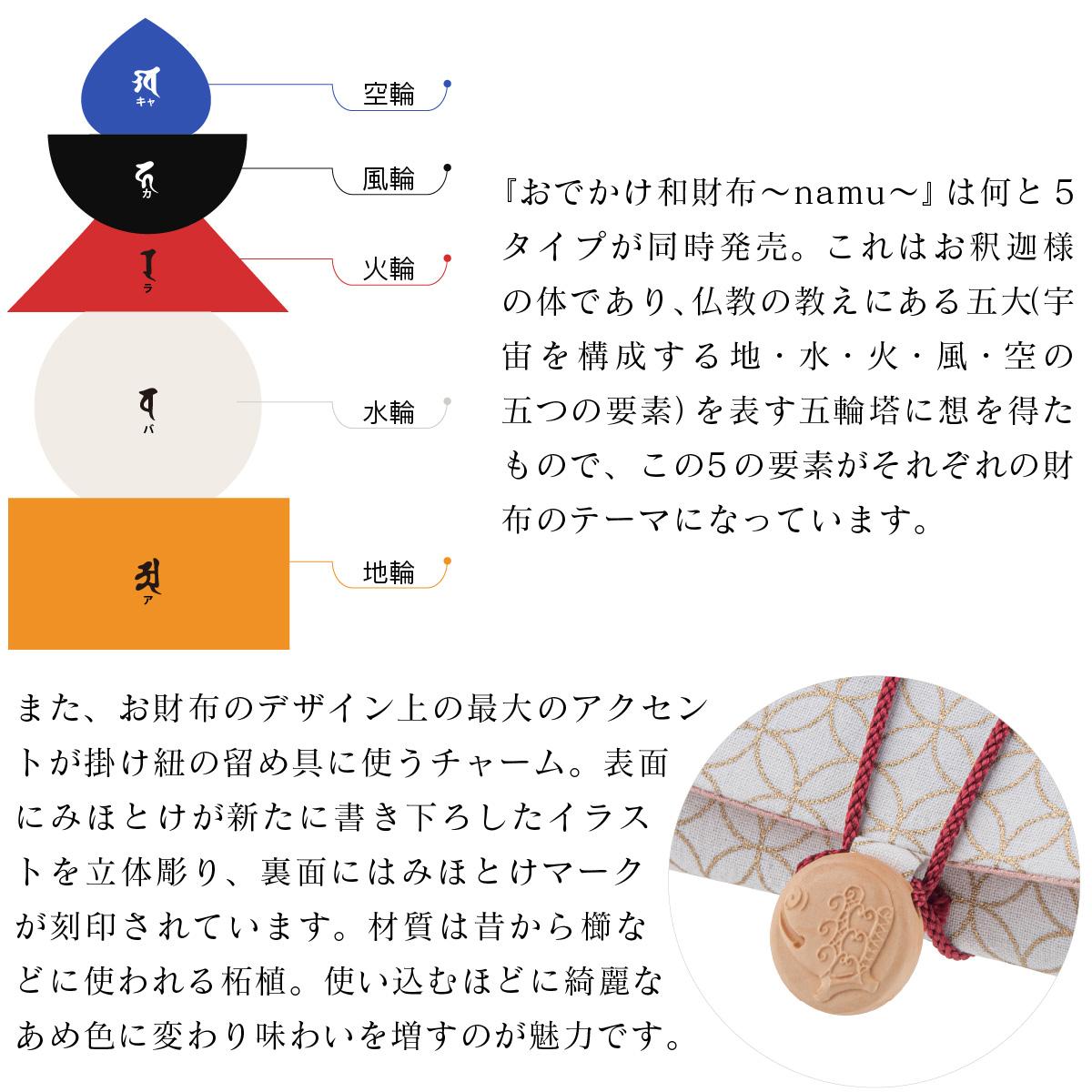 みほとけプロデュース おでかけ和財布〜namu〜『木魚』 ≫厄災を取り除く功徳を表す財布