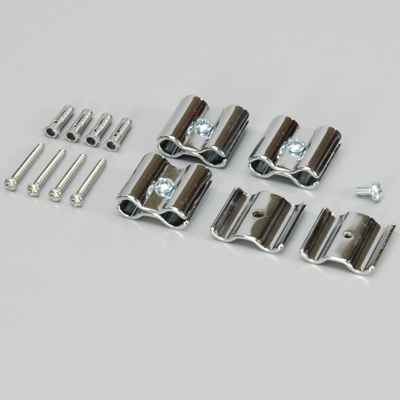 ジョイント金具 径8mm用 クローム (1P4個入) 5袋(1セット)