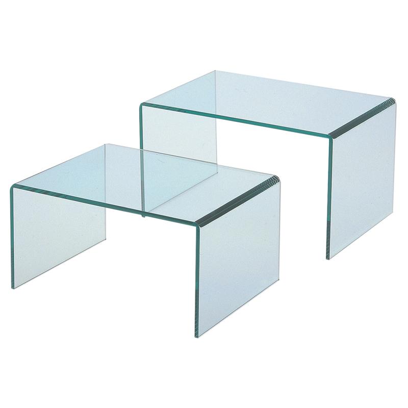 アクリル コの字ディスプレイテーブル ガラス色