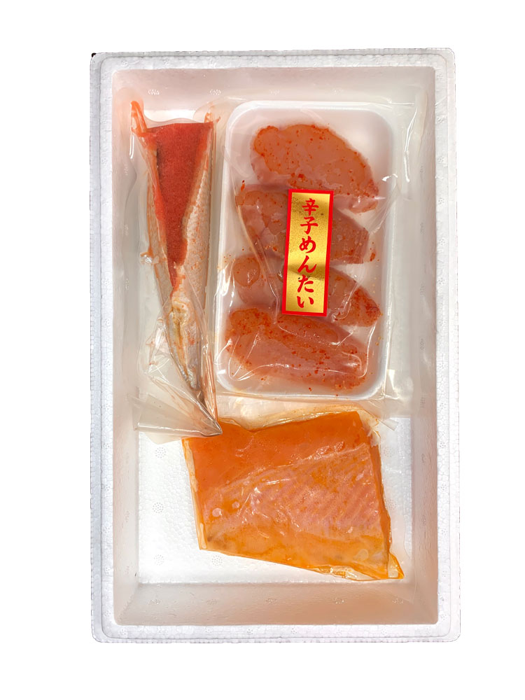 博多の旨いもん お試しセット いわし明太子 (いわしめんたい漬) + 鮭トロのめんたい漬 + 辛子明太子 無着色(上切子)通販 お歳暮 お中元