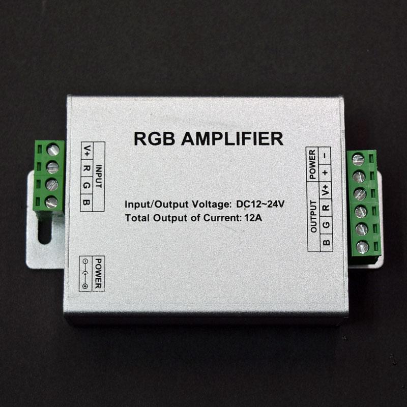 LEDテープライト用RGBコントローラー増幅器/DC12V-24V