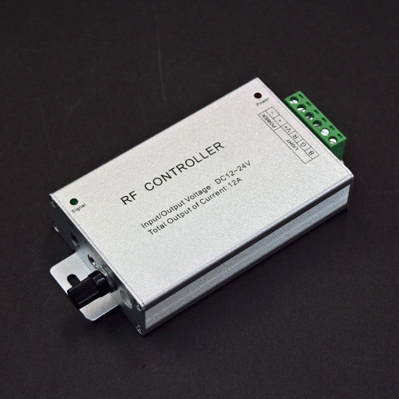 LEDテープライト用RGBコントローラー/DC12V-24V/音声連動型/無線式